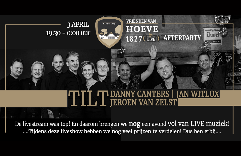 Onze liverstream afterparty
